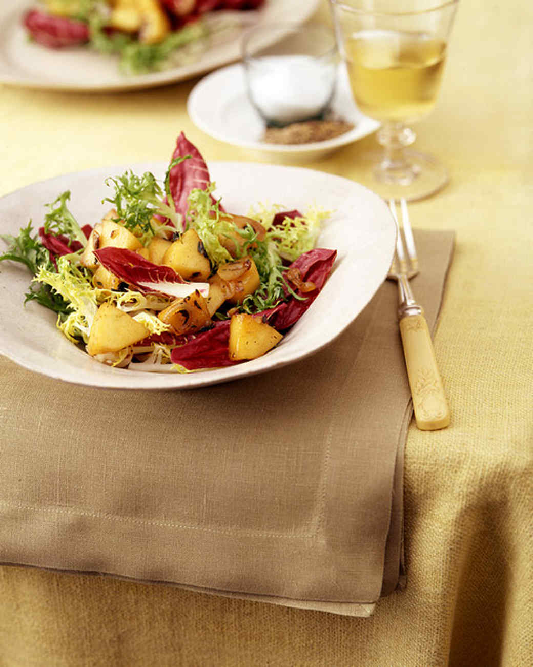 Mixed Chicories with Warm Apple Thyme Dressing