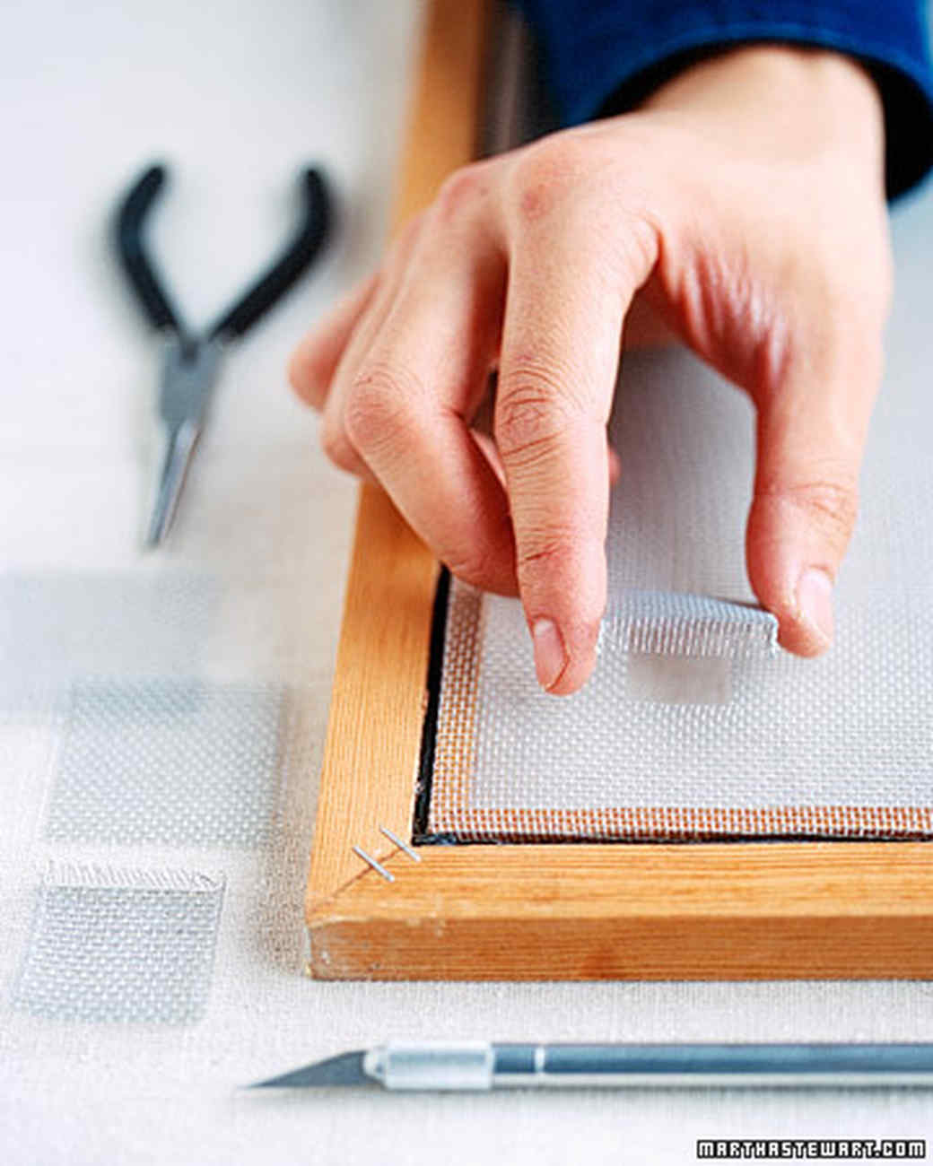 How To Repair Window Screens Martha Stewart