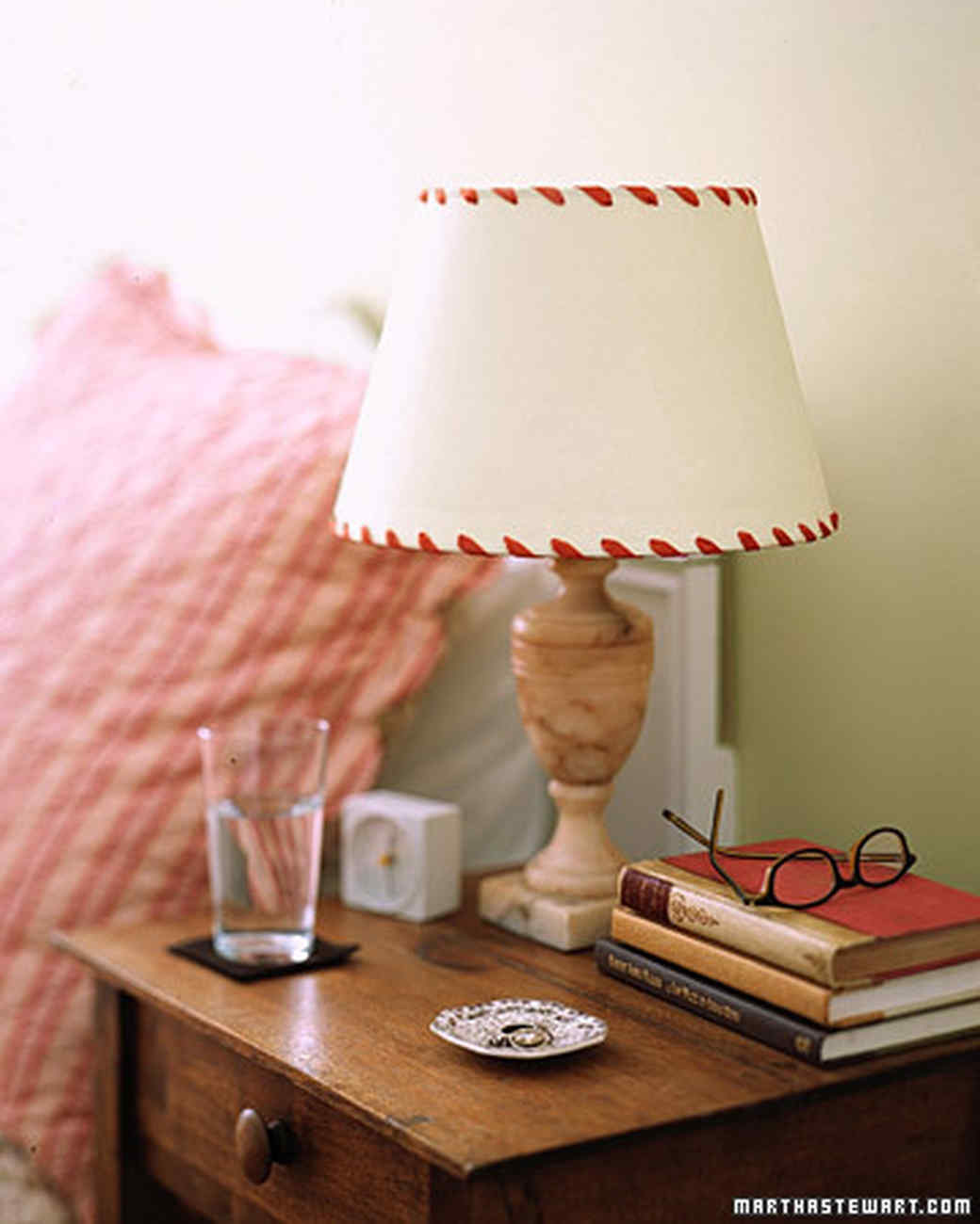 Whipstitched Lampshades