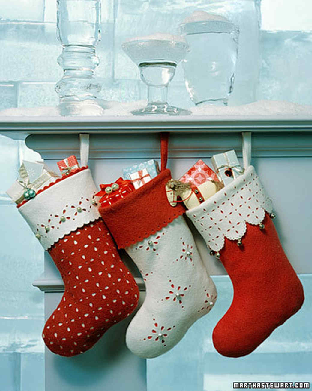 handmade christmas stockings martha stewart - Decorating Christmas Stockings