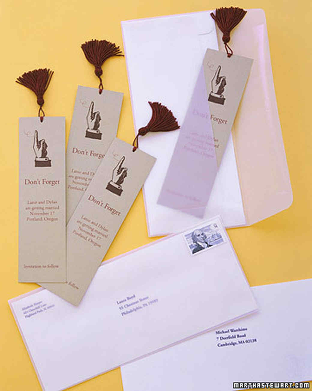 Save-the-Date Bookmarks