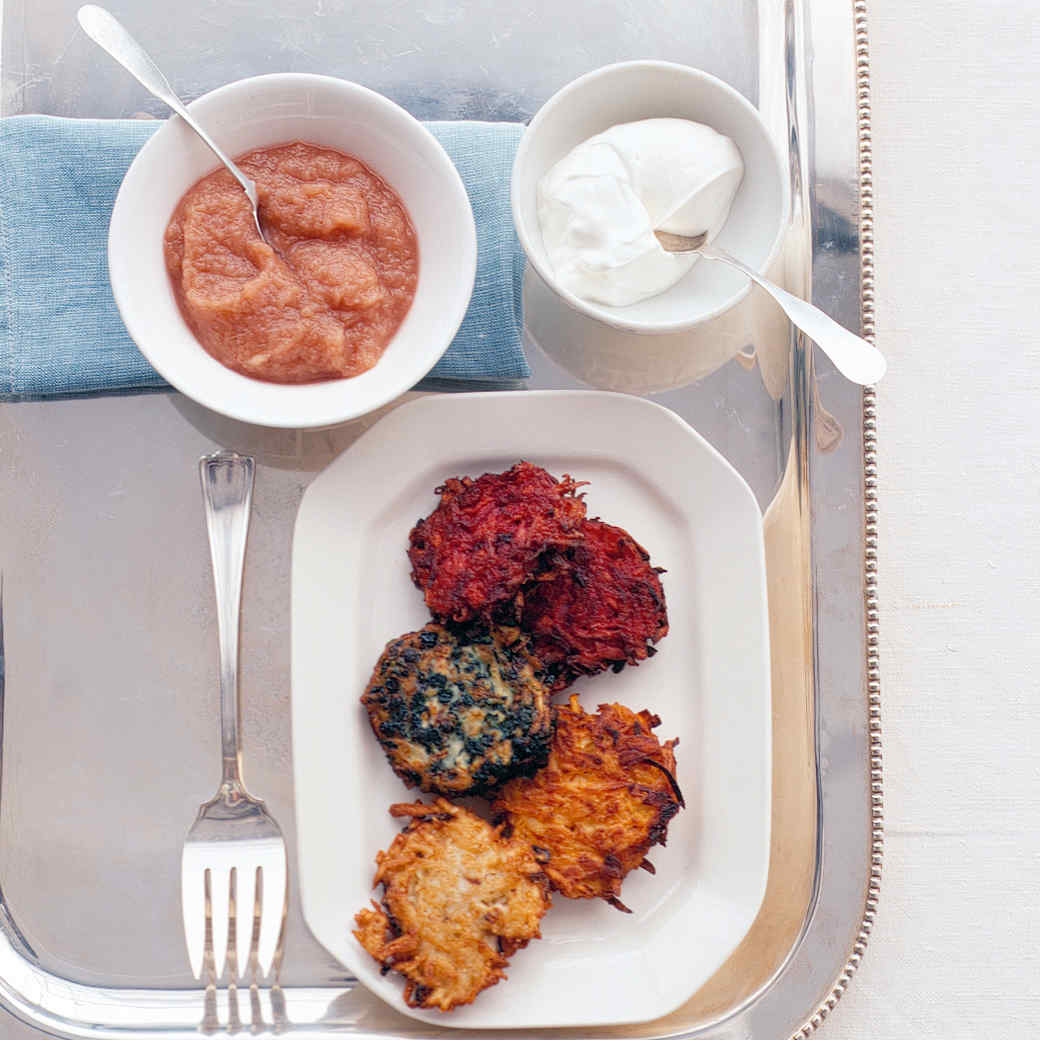 Spinach and Currant Latkes