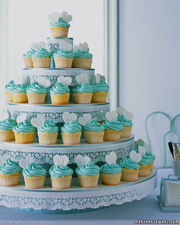 Stacked Monogram Cupcakes