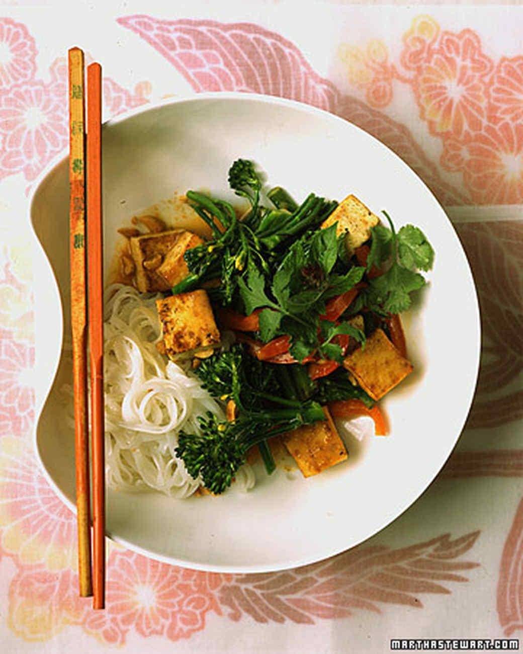 Stir-Fried Tofu, Thai-Style