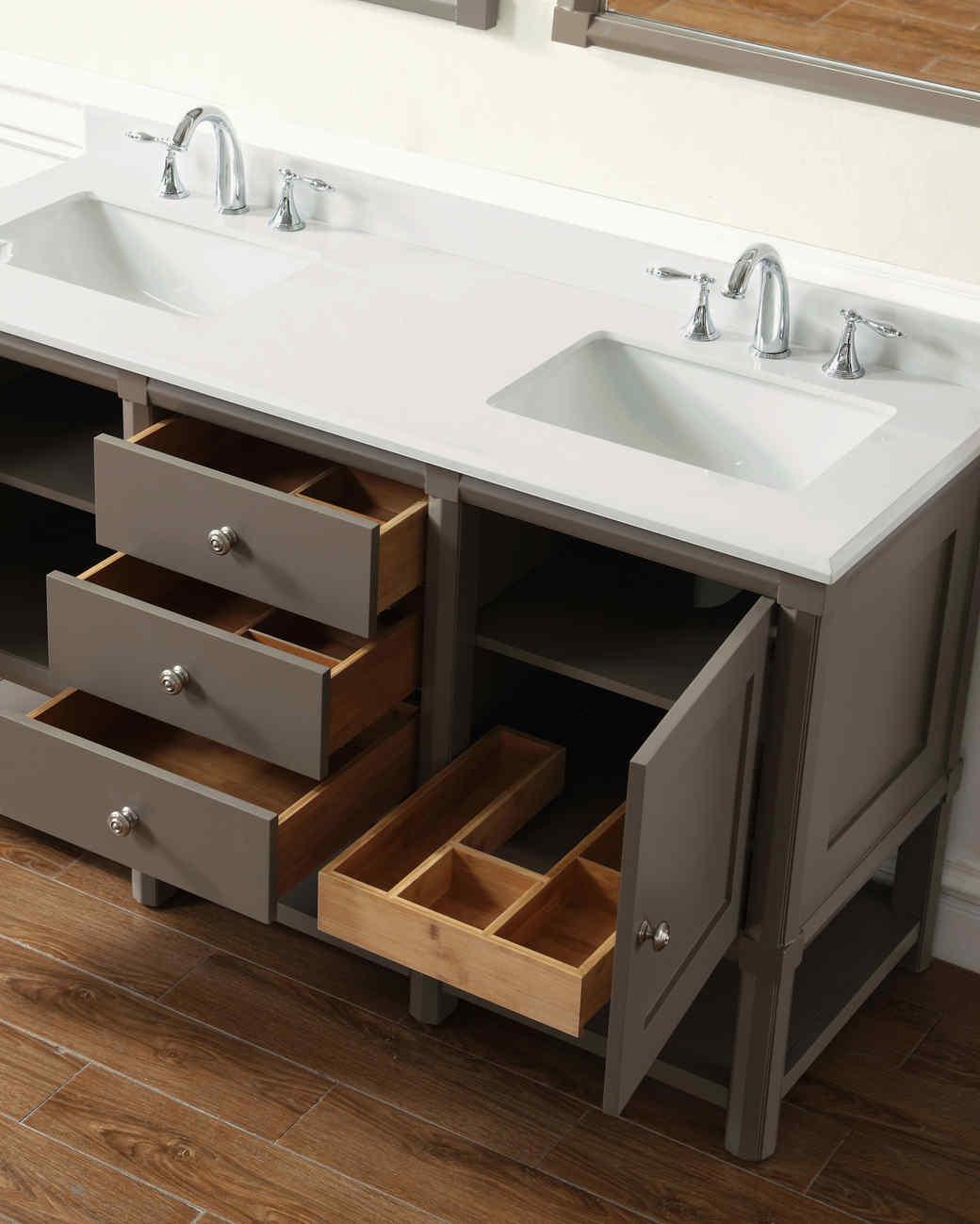 bath vanity open