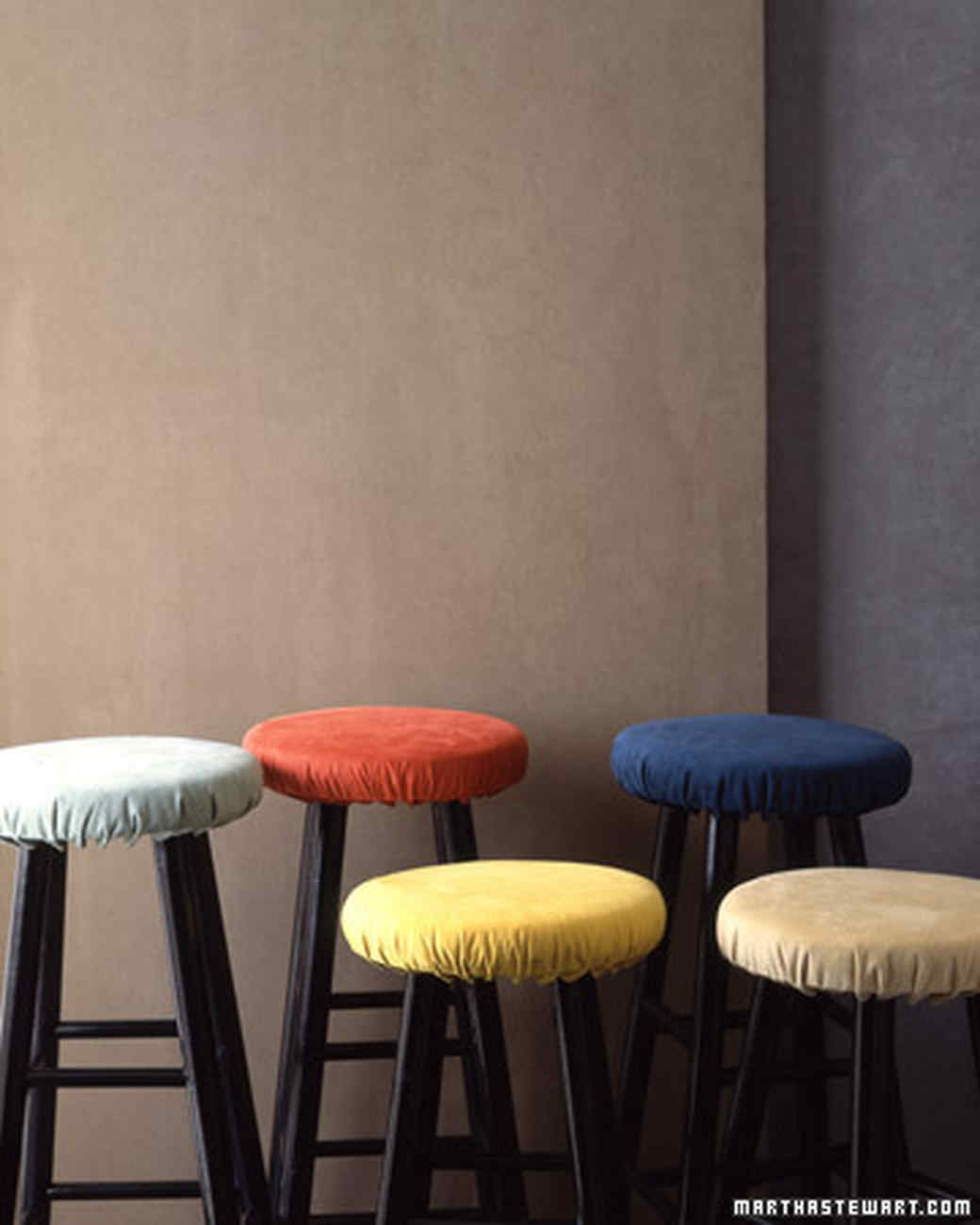 Suede Stool Cover