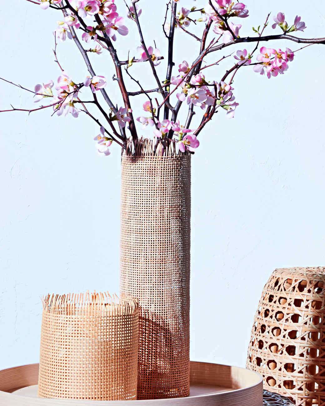 weave caning vase