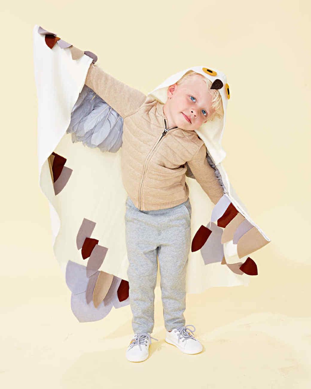 snowy owl kid costume