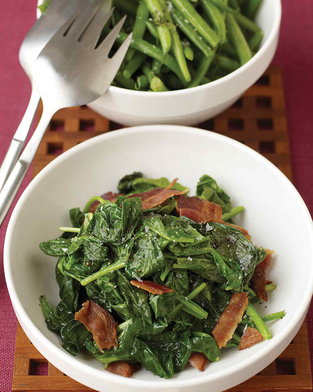 Sauteed Spinach with Bacon