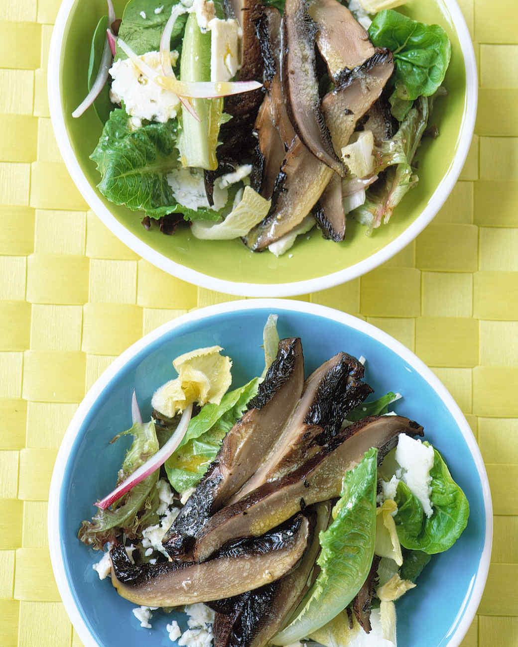 Roasted-Portobello Salad with Blue Cheese