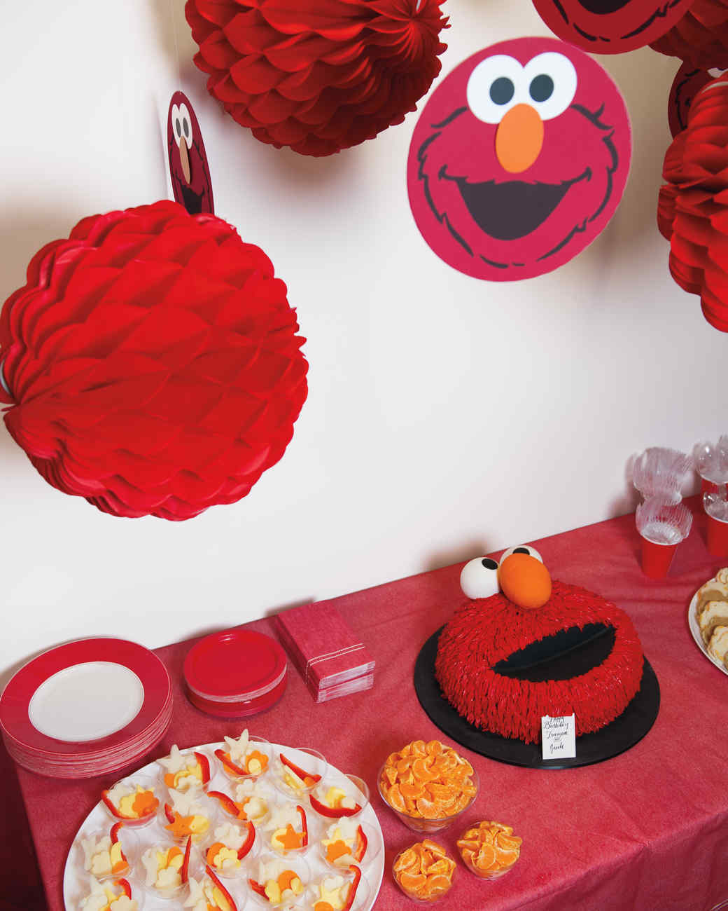 Celebrating With Elmo Birthday Party