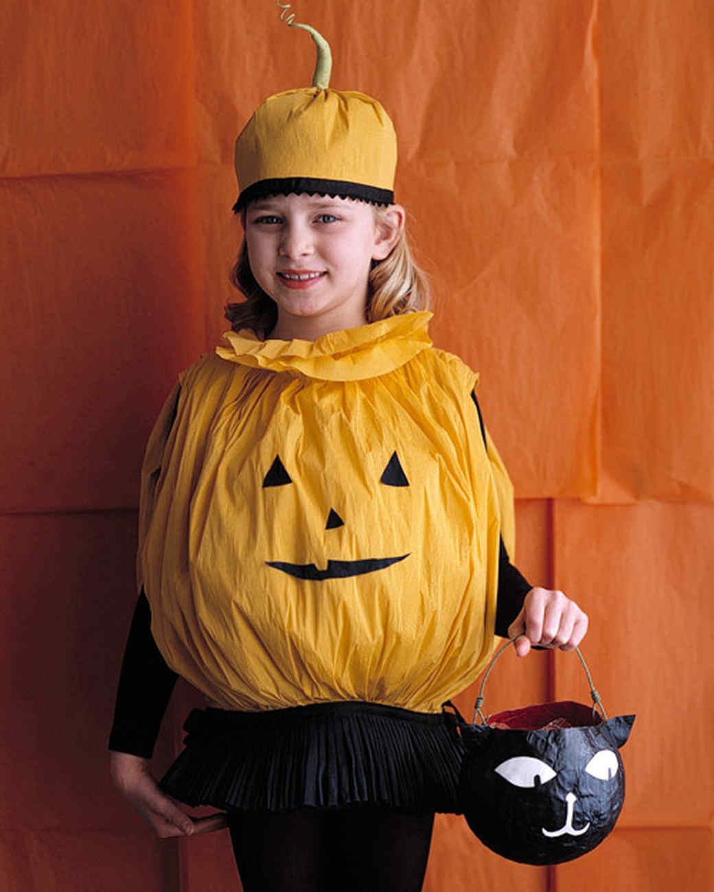 Paper Pumpkin Costume  sc 1 st  Martha Stewart : diy pumpkin costume for adults  - Germanpascual.Com