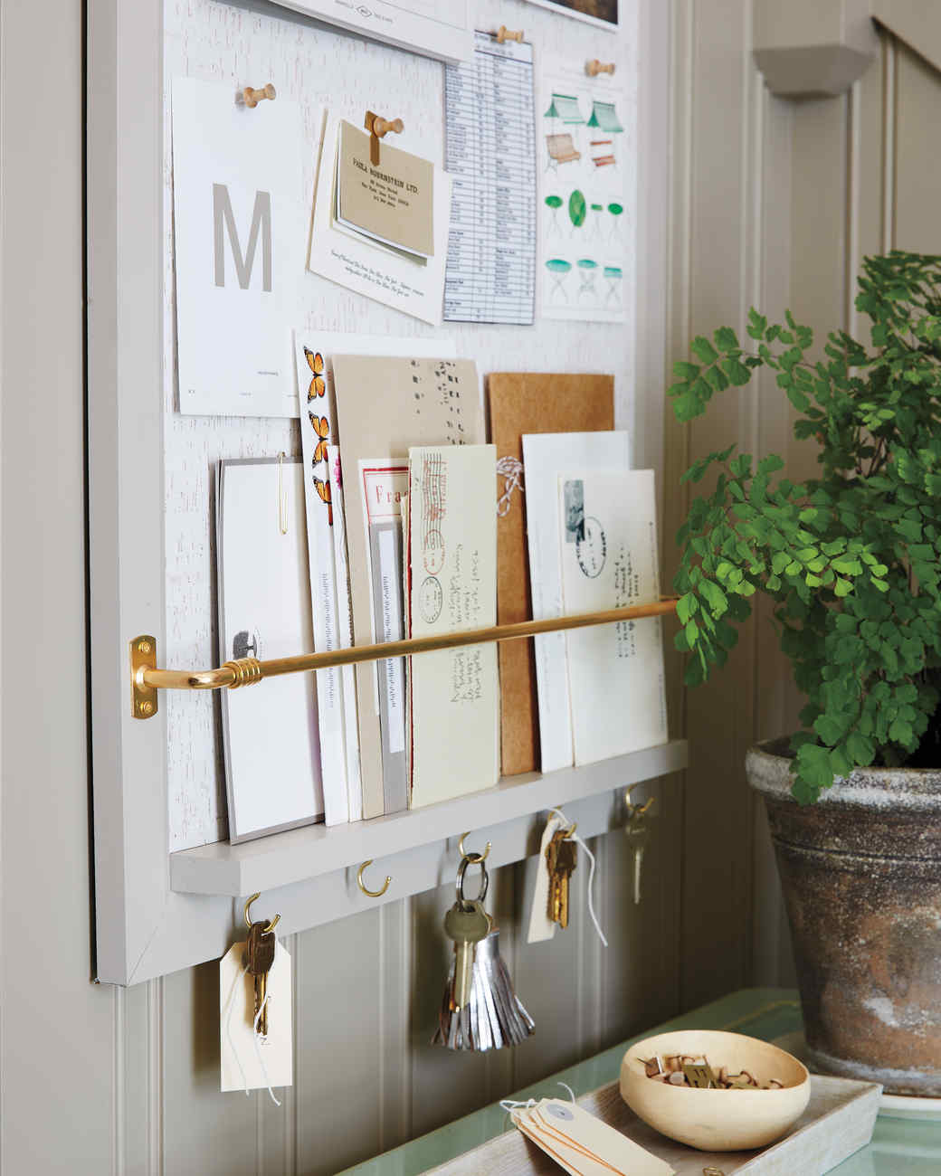 Entryway-Organizer How-To | Martha Stewart on storage ideas, mail art ideas, mail sorting ideas, organization for mail keys and ideas, organize mail office ideas, mail storage solutions,