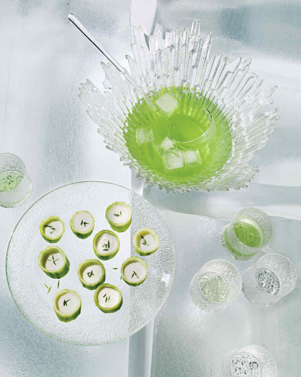 Cucumber Cups with Vichyssoise