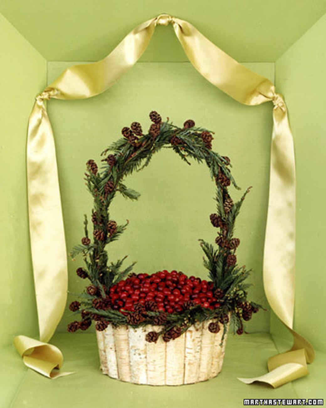 Cranberry and Pine Basket