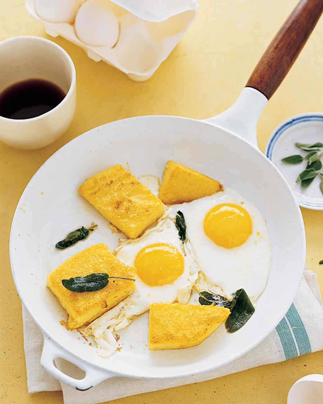 Fried Polenta, Eggs, and Sage