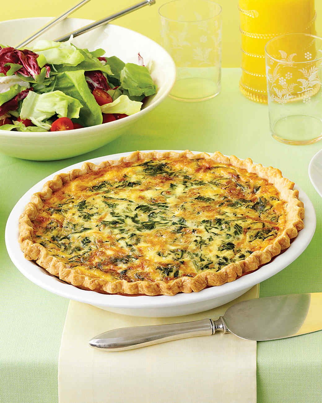 Spinach and Gruyere Quiches Recipes
