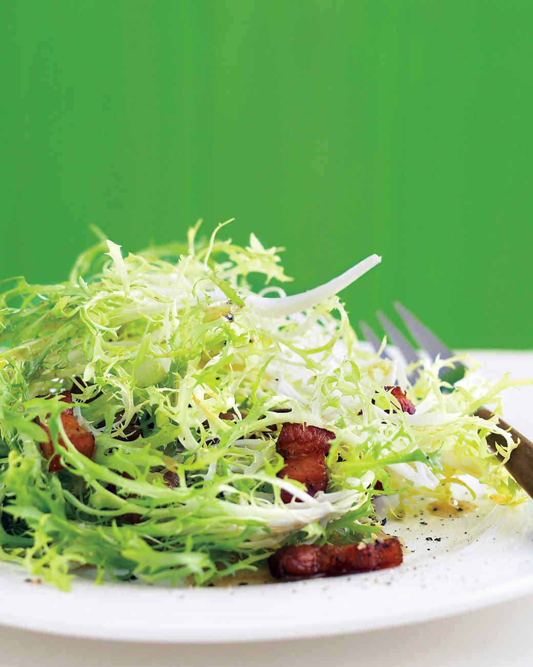Frisee Salad with Warm Bacon Vinaigrette