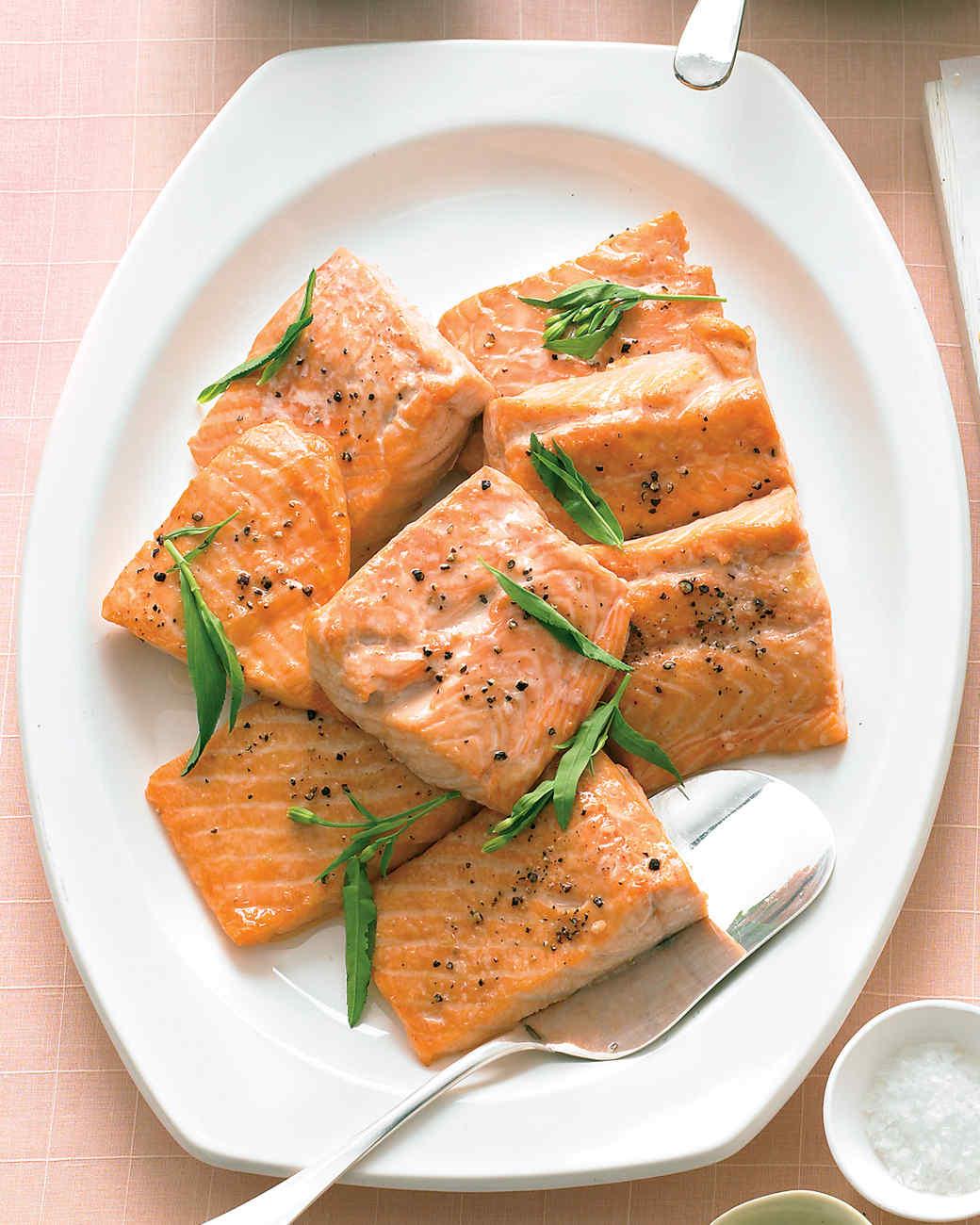Salmon with Tarragon-Yogurt Sauce