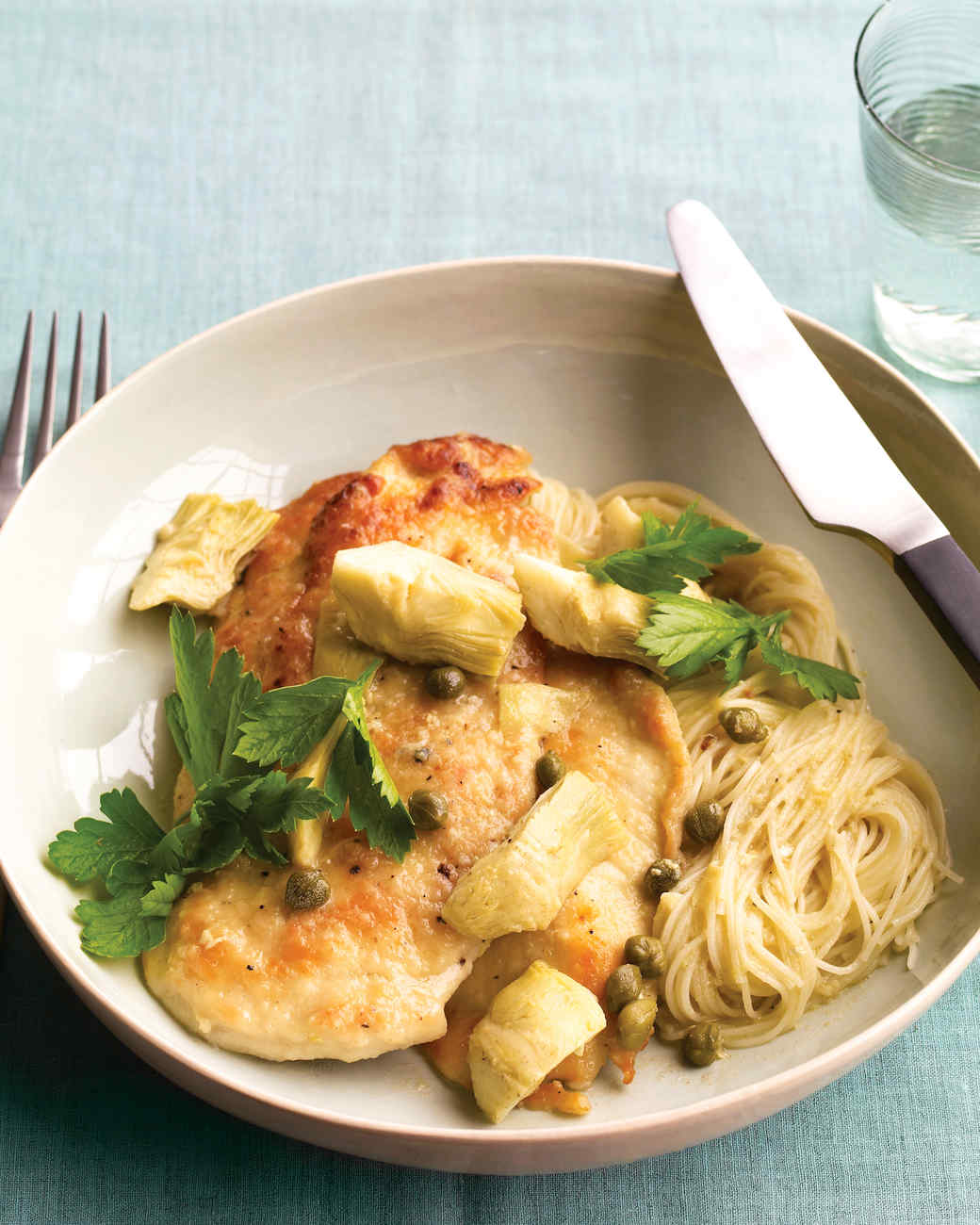 Everyday food radio recipes martha stewart chicken with artichokes and angel hair forumfinder Choice Image