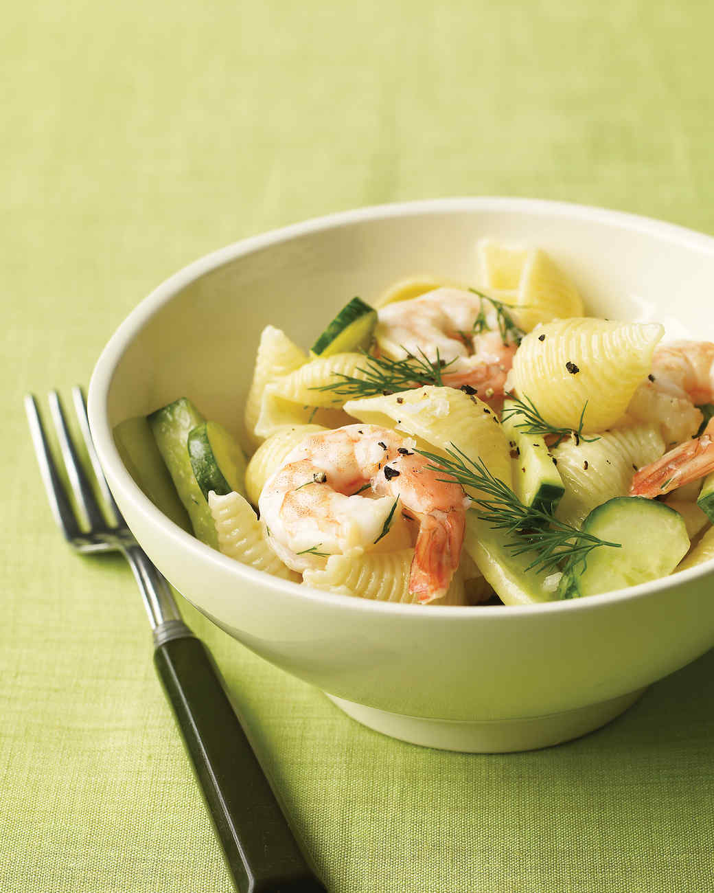 Shrimp Pasta Salad with Cucumber and Dill Recipe | Martha Stewart