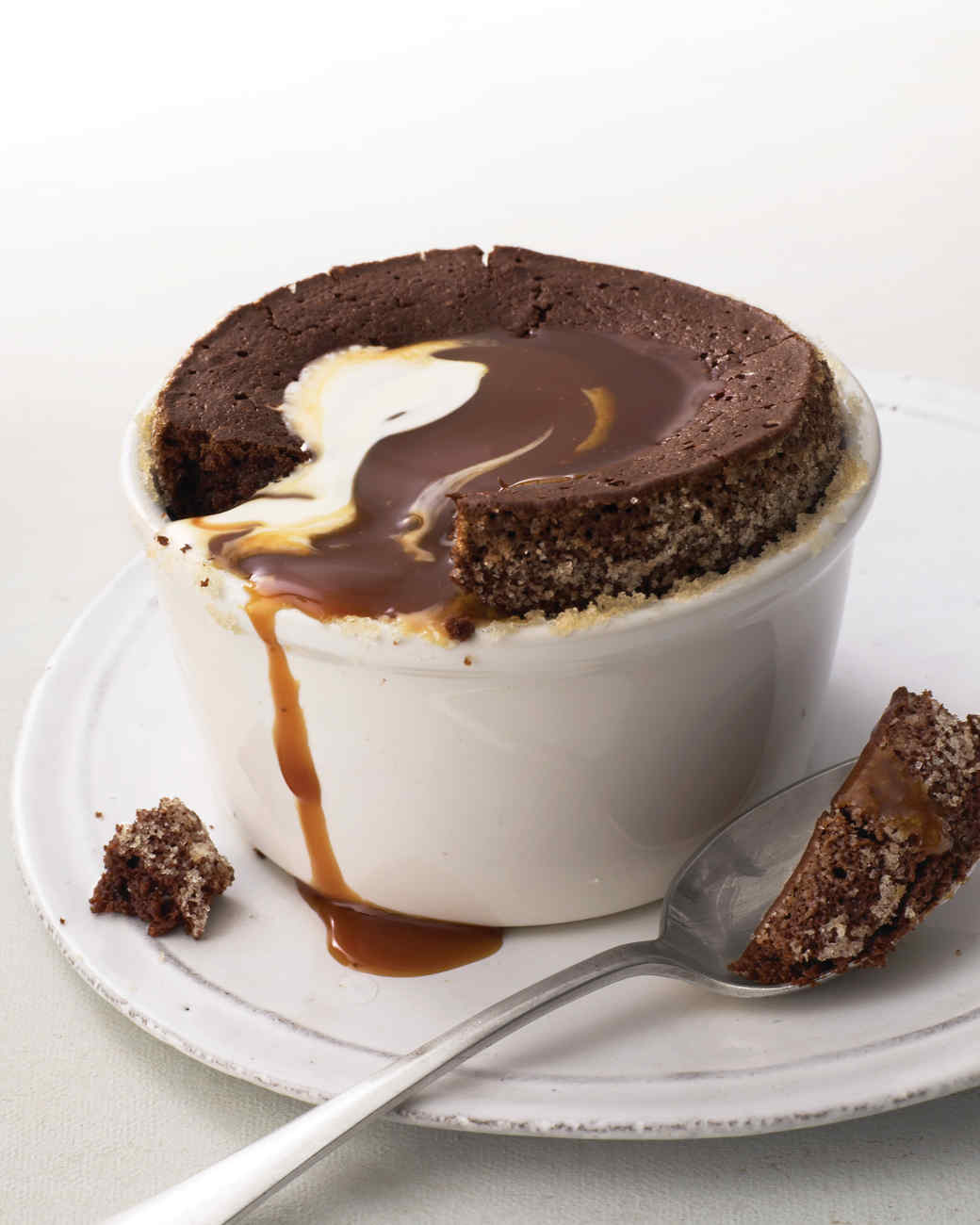 Warm Chocolate Pudding Cakes with Caramel Sauce