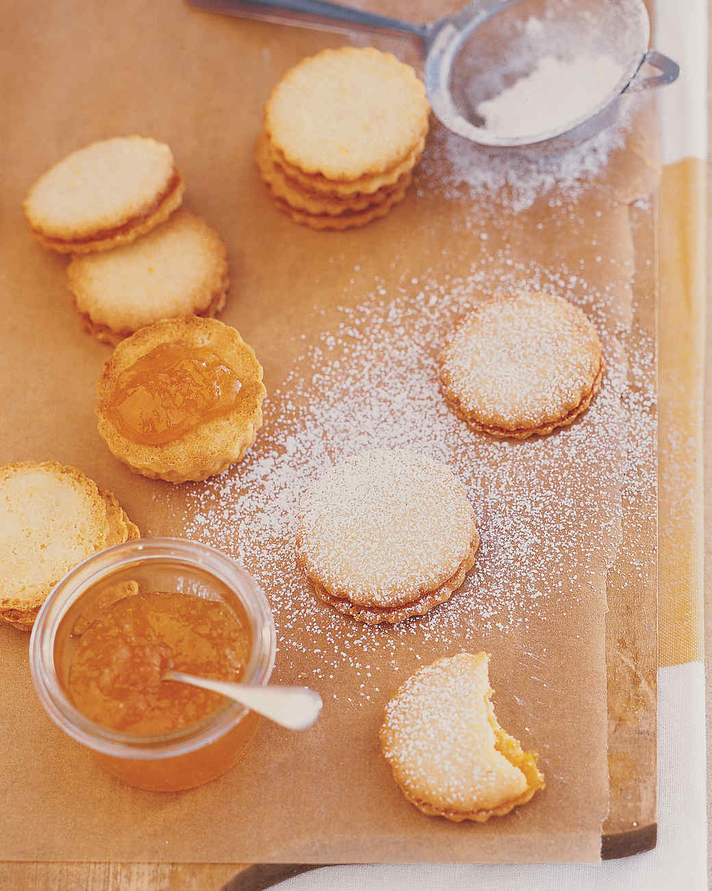 Lemon-Apricot Sandwiches