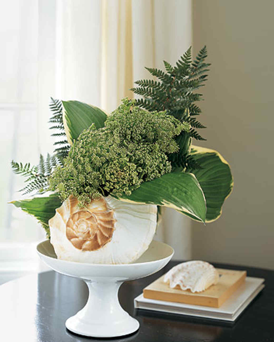 Flower Arrangement in a Seashell