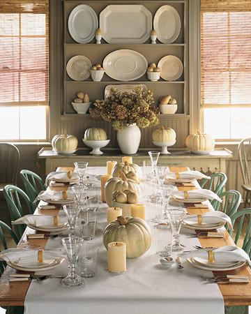 White Pumpkin Centerpiece & White Pumpkin Centerpiece | Martha Stewart