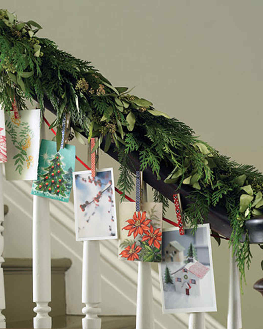 christmas garlands martha stewart - Banister Christmas Garland Decor