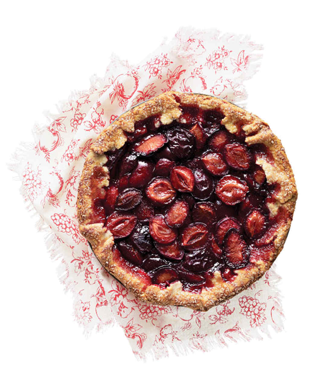 Plum-and-Port Crostata