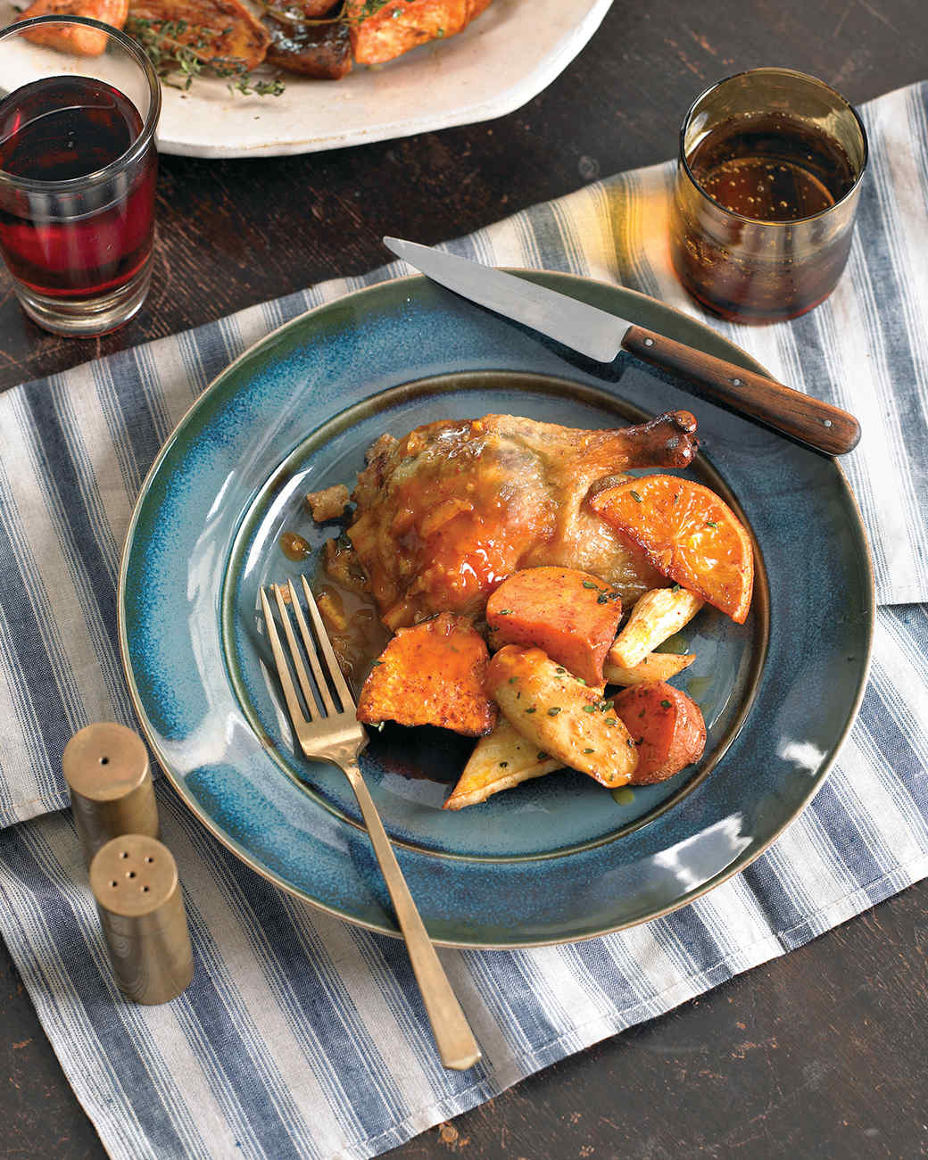 Roasted Sweet Potatoes and Parsnips with Chili Powder