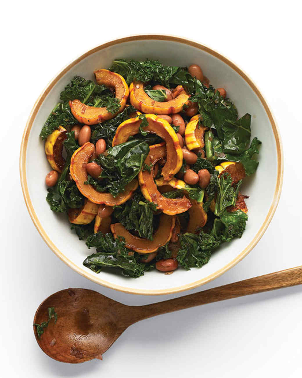 Delicata Squash Salad with Kale and Cranberry Beans
