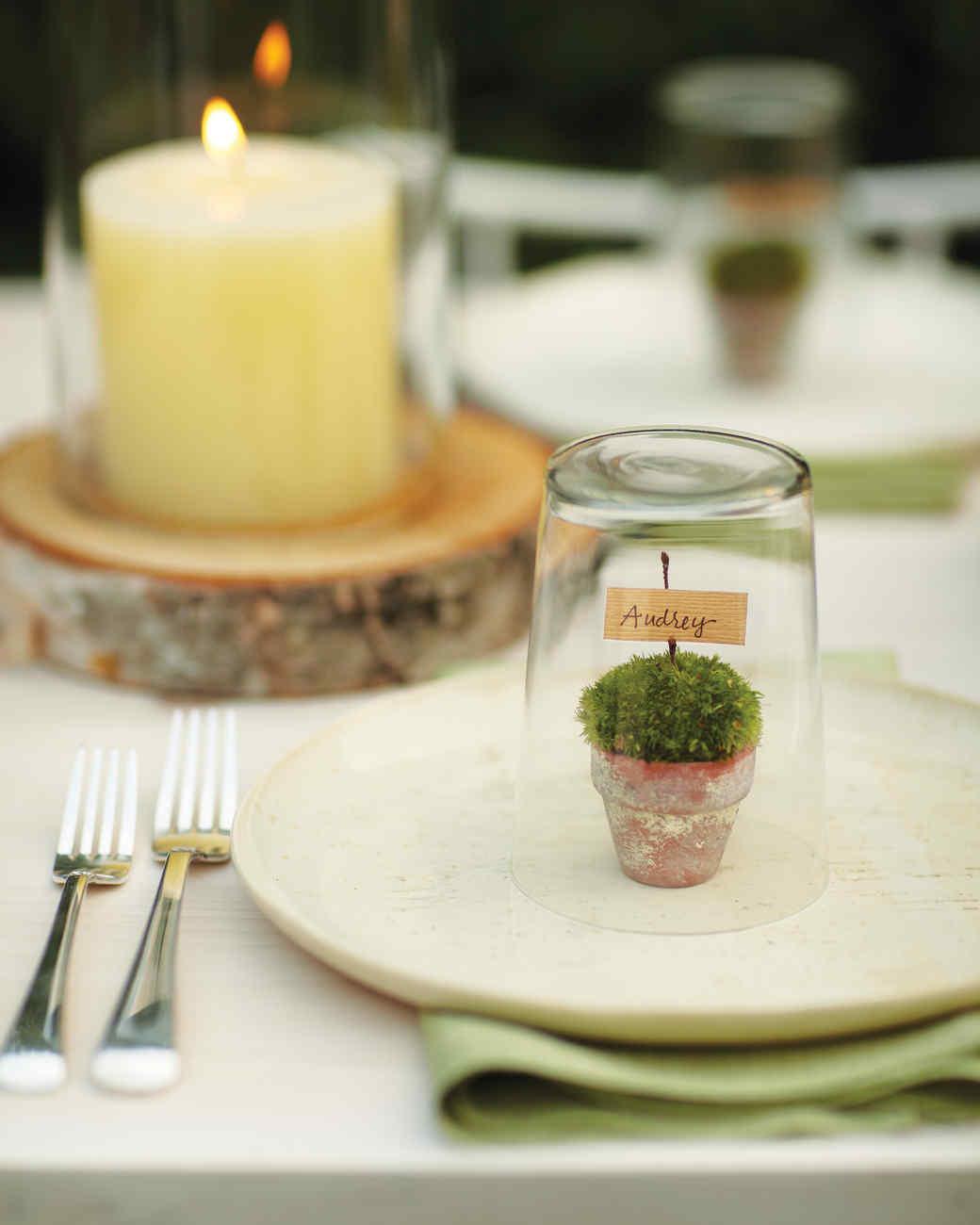 Mini Terrarium Place Cards Martha Stewart - Restaurant table cards