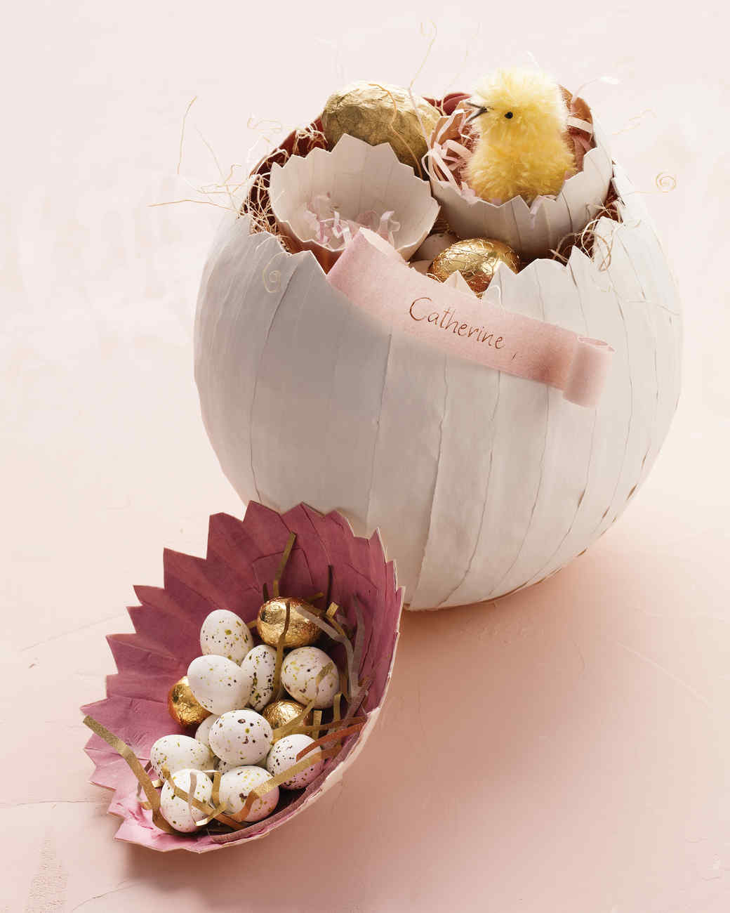 31 awesome easter basket ideas martha stewart papier mache egg baskets negle Images