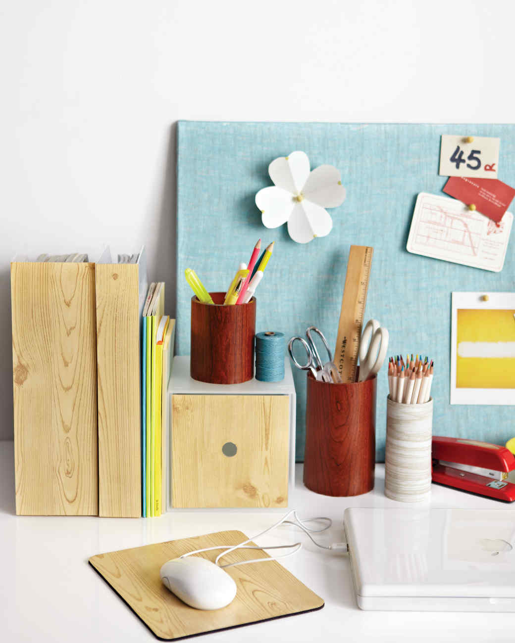 Diy office desk accessories Homemade Woodgrain Office Accessories Martha Stewart Wood Grain Office Accessories Martha Stewart