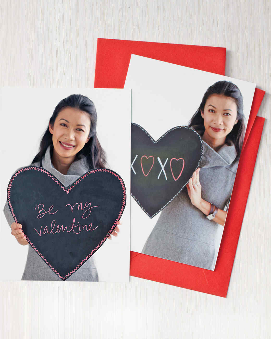 Chalkboard Valentine Photo Card