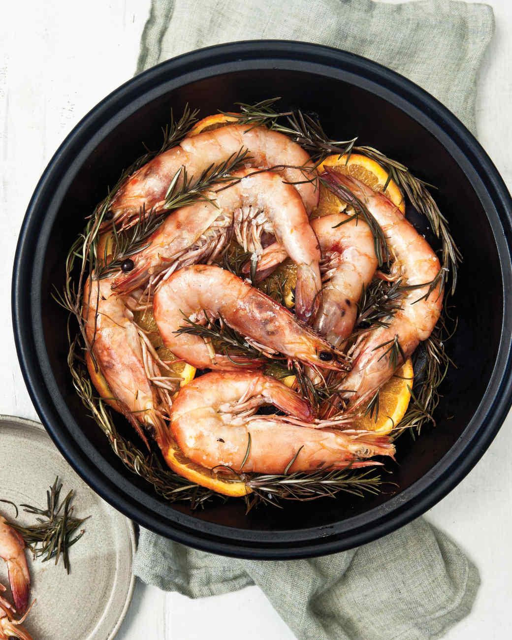 Shrimp Roasted on Rosemary