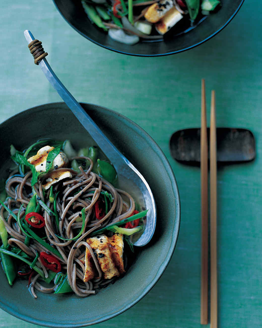 Soba and Tofu in Ginger Broth