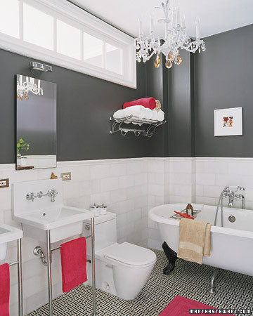 Image Of Bathroom Paint Ideas With Black And White Tile Bathroom ...