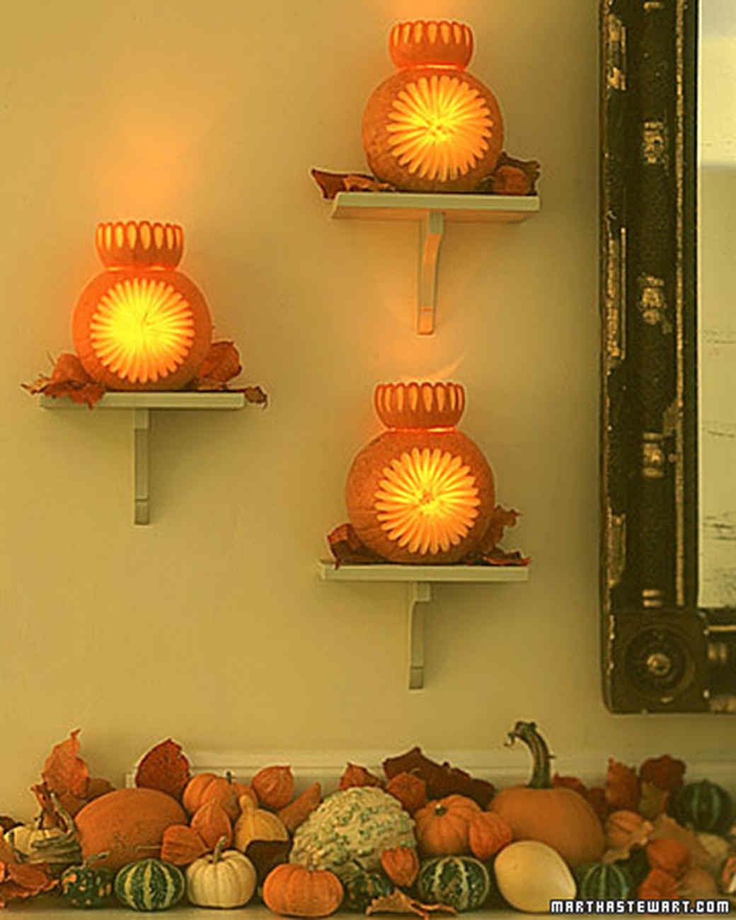 Starburst Pumpkin Sconces