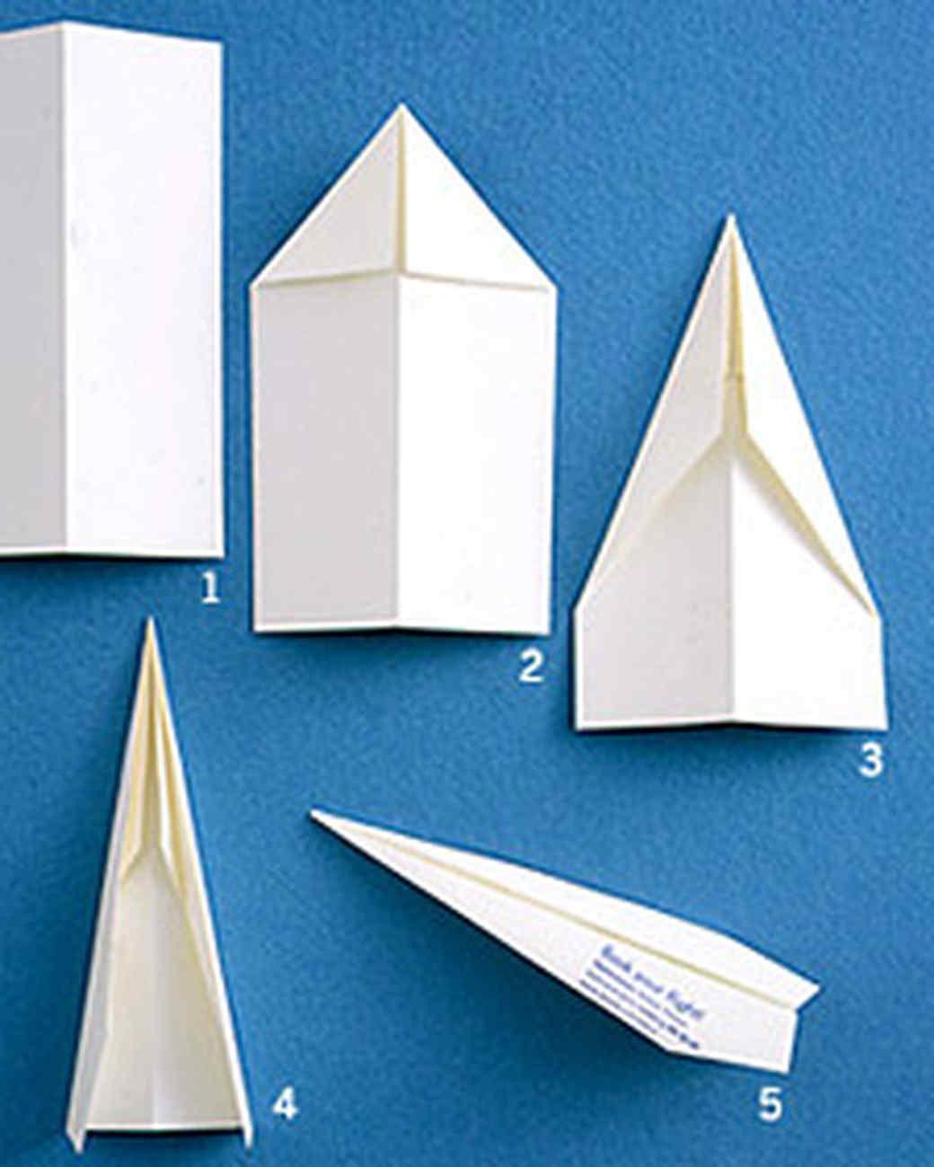 paper airplane how to martha stewart