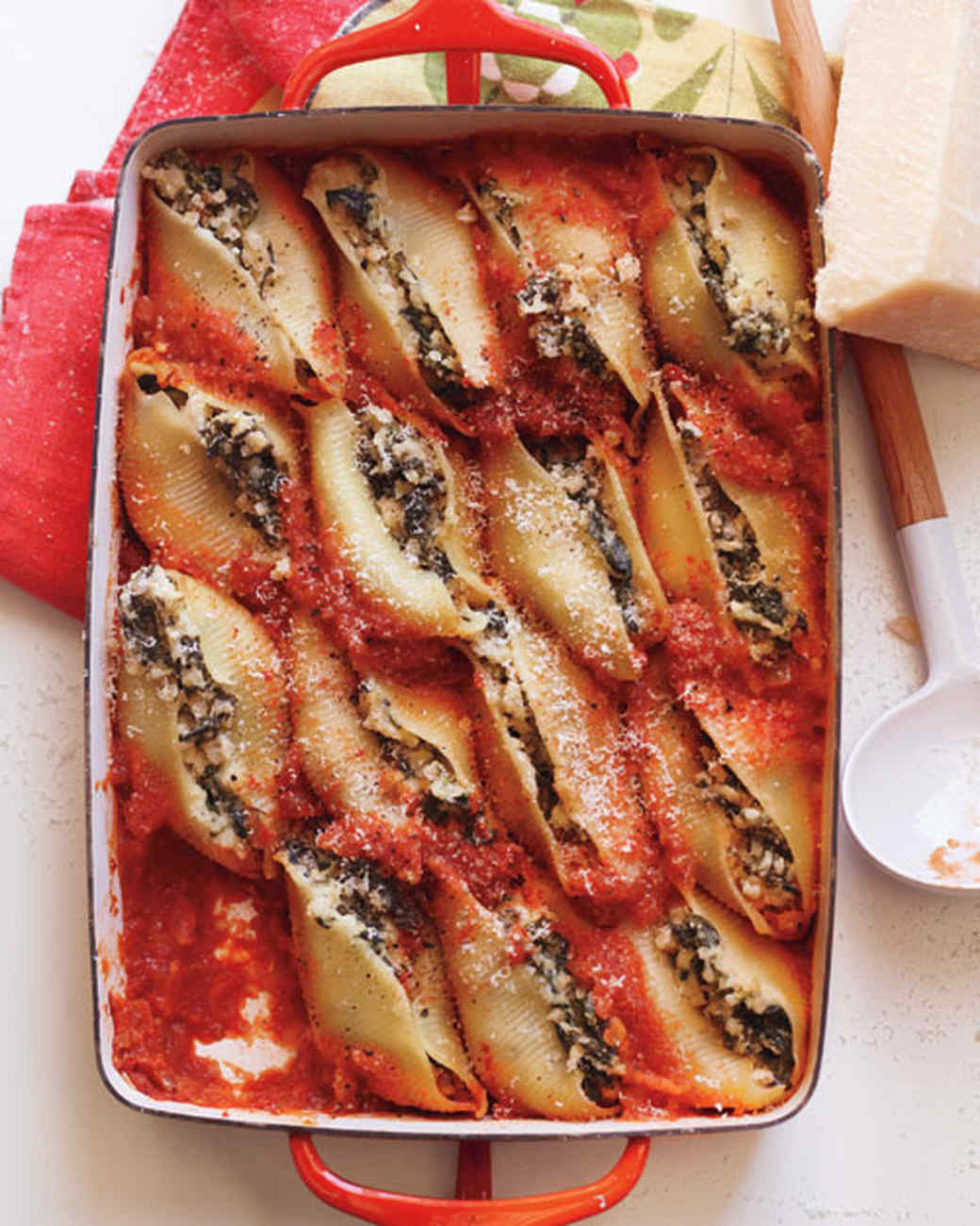 Ricotta and Spinach Stuffed Shells