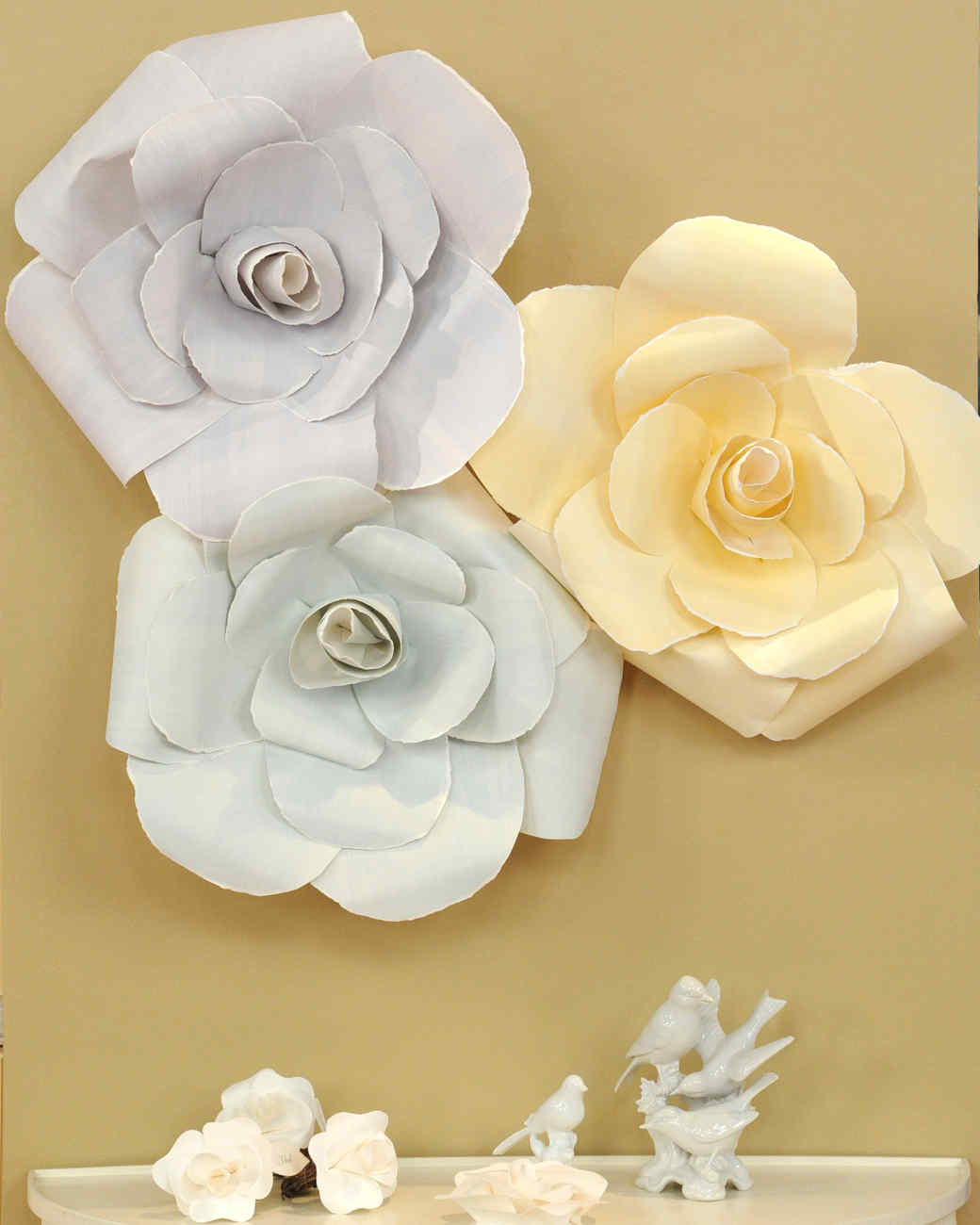Oversize Paper Roses