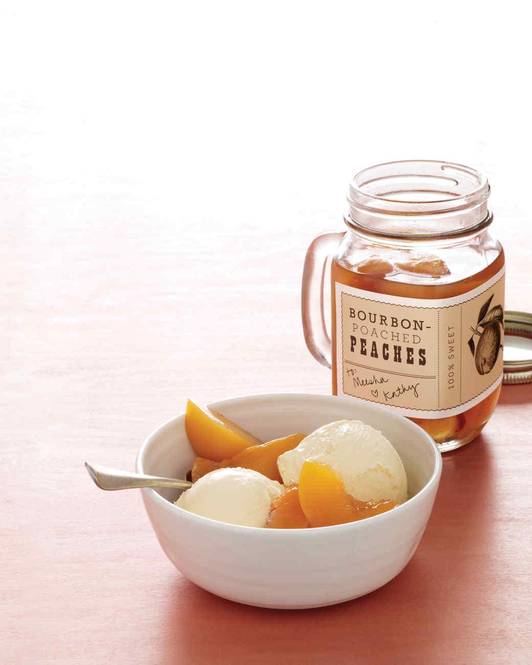 Bourbon-Poached Peaches