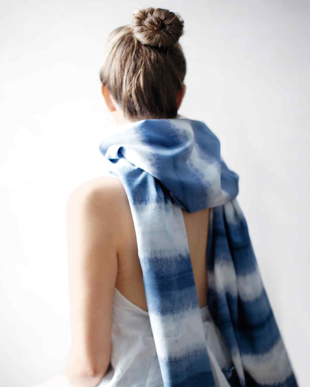 Dip-Dyed Scarves