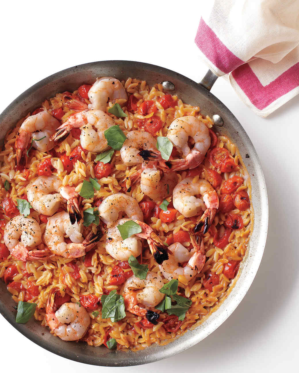 Skillet Shrimp and Orzo