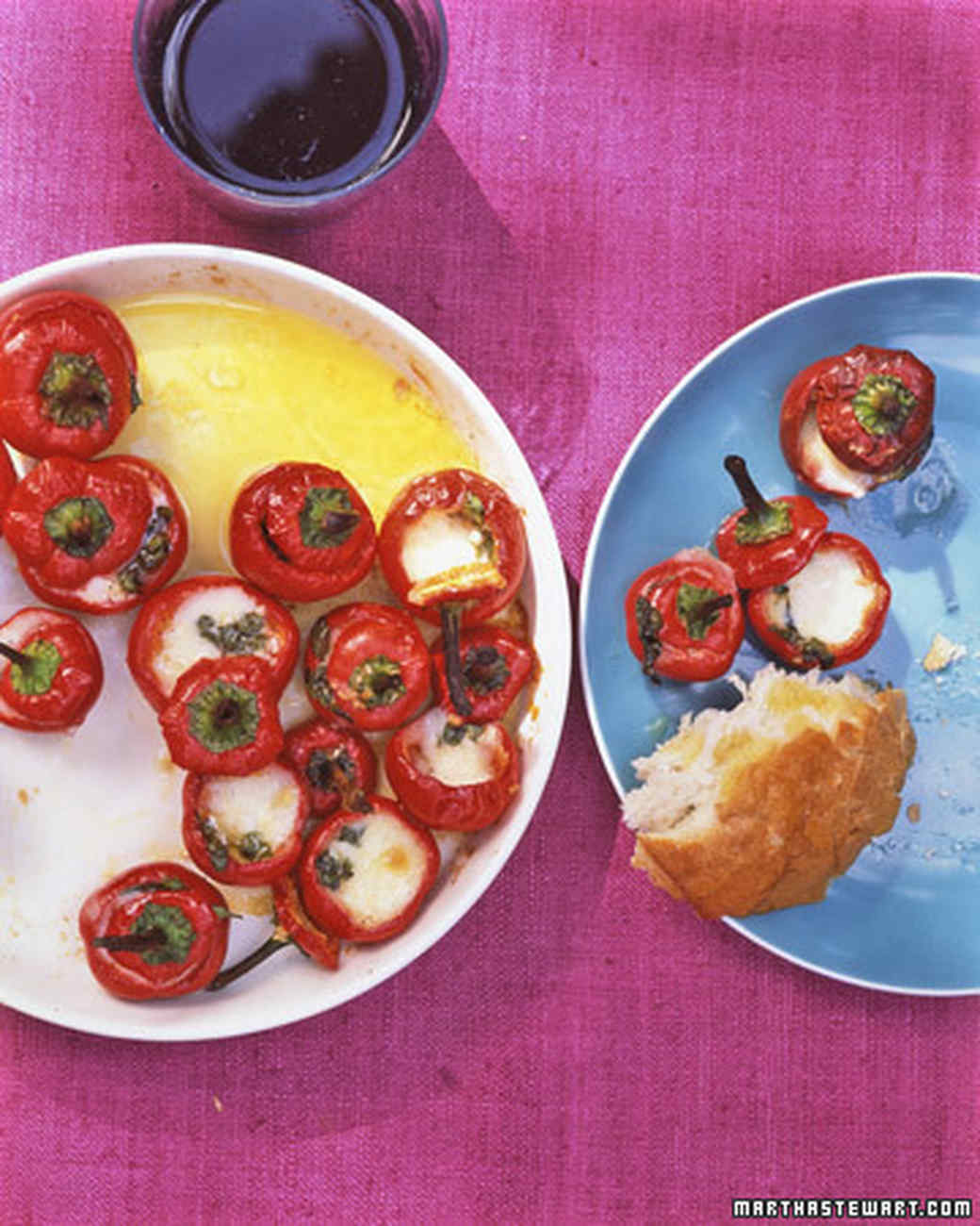 Stuffed Marinated Hot Red Cherry Peppers