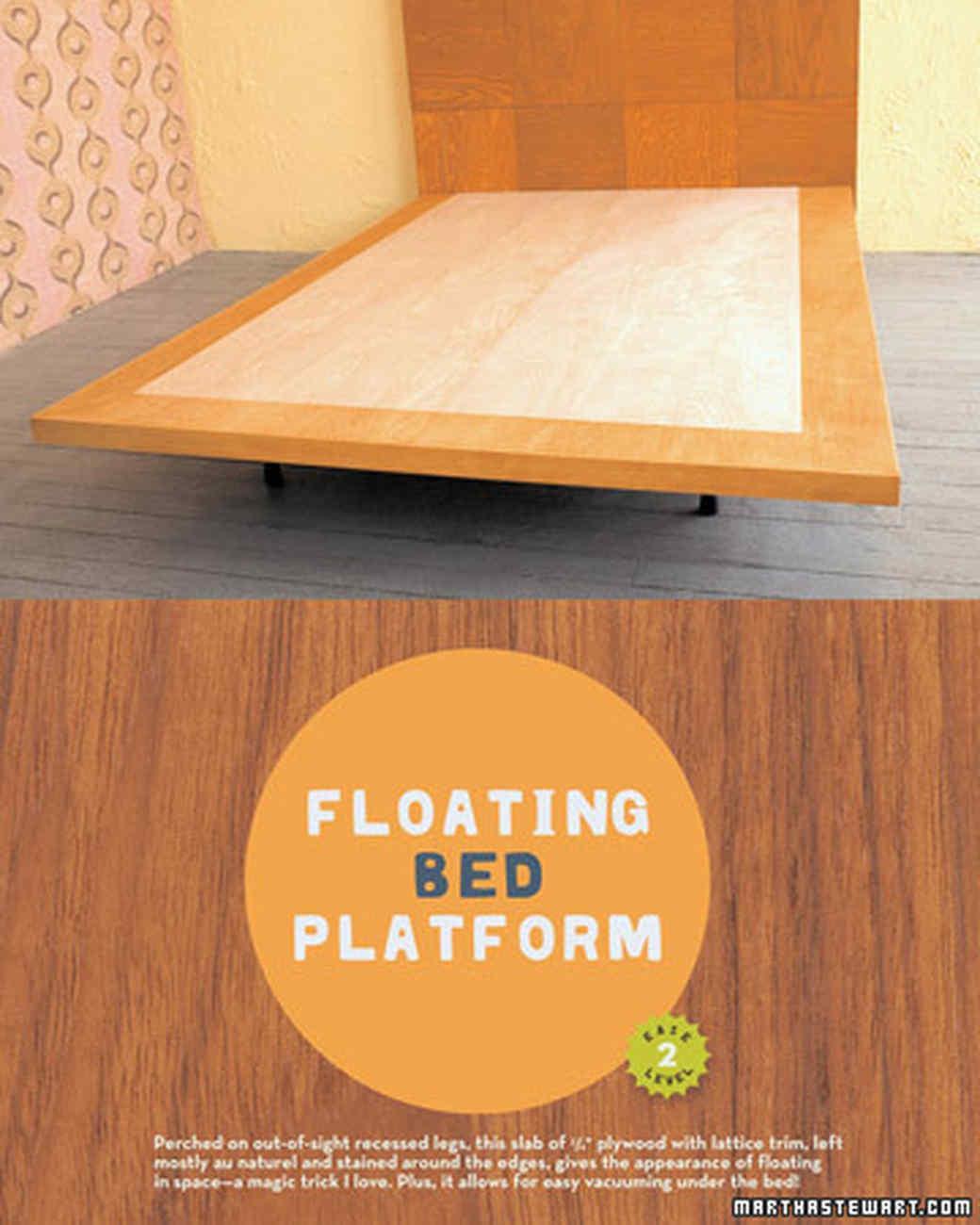 Wooden Tile Headboard And Floating Bed Platform Video Martha Stewart
