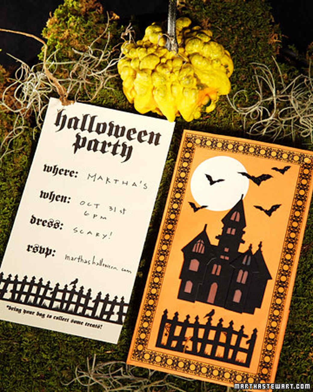 Halloween Luminary Invitations